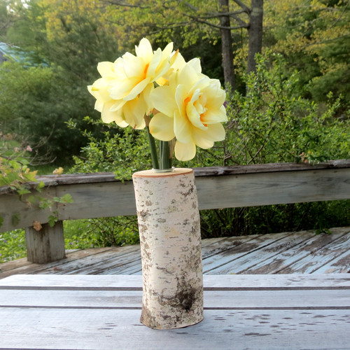 Vase made from Birch log.