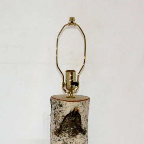 Birch Table Lamp without Shade