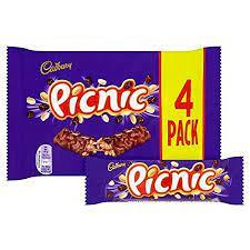 Cadbury Picnic 4 Pack