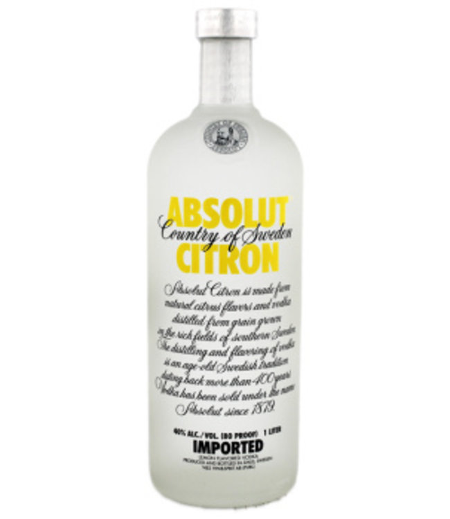 Absolut Citron Vodka 1L
