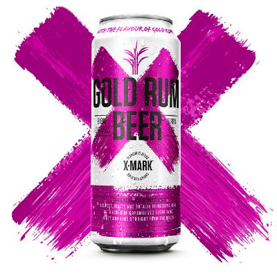 X-Mark Gold Rum Beer Can 50cl