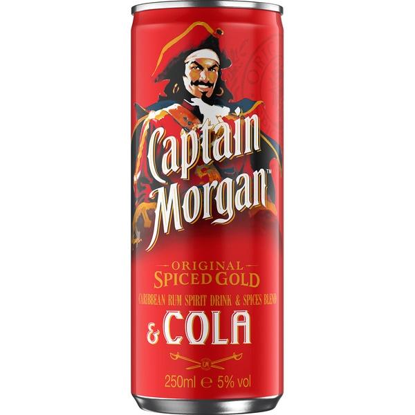 Captain Morgan & Cola Can 50cl