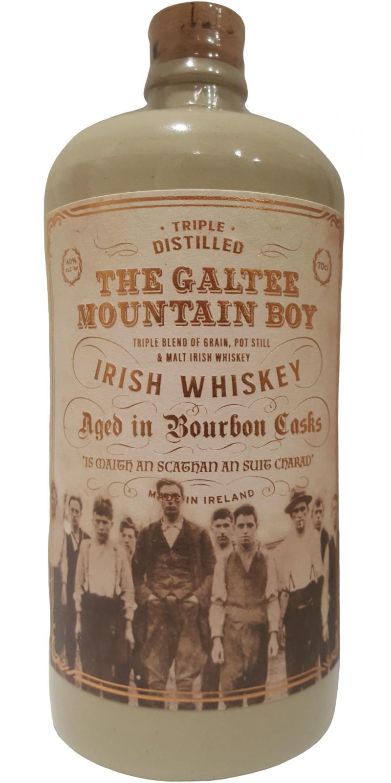 The Galtee Mountain Boy Aged in Bournon Casks 70cl Whiskey