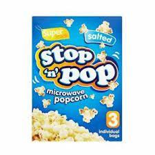Stop 'n' Pop Microwave Popcorn Salted 3 x 85g