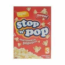 Copy of Stop 'n' Pop Microwave Popcorn Sweet 3 x 85g