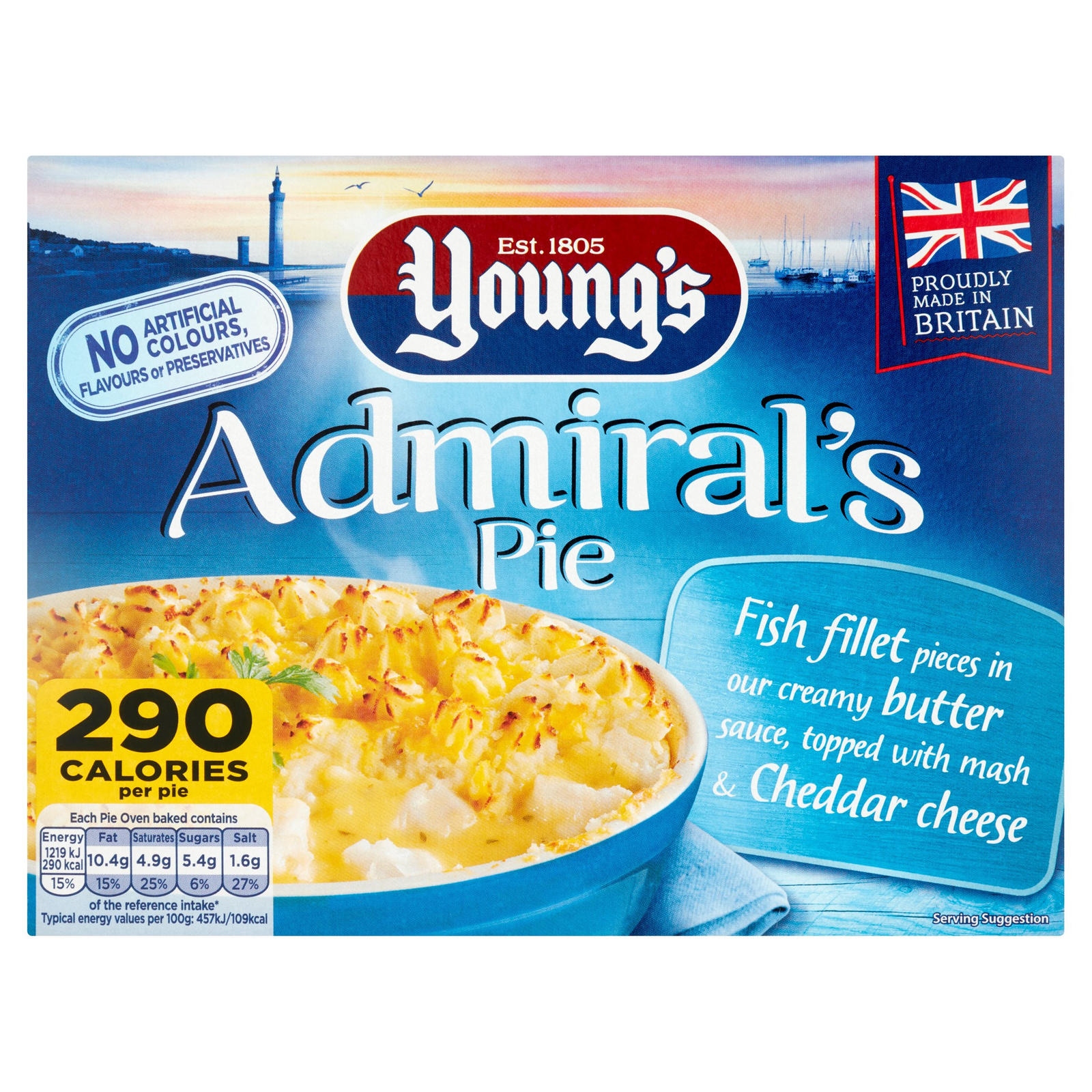 Young's Admiral Pie 300g