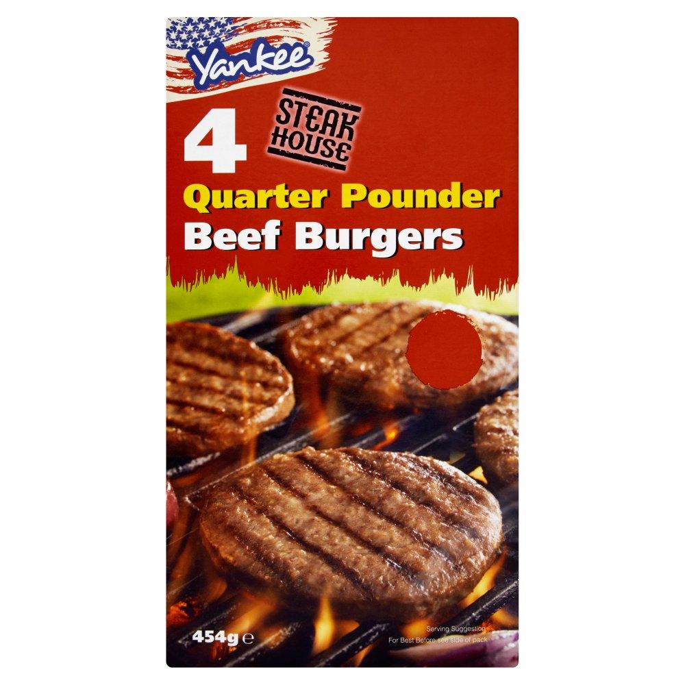 Yankee 4 Quarter Pounder Beef Burgers