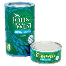 John West Tuna Chunks in Brine, 4 x 132g