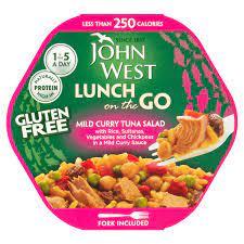 John West Lunch on the Go, Mild Curry Tuna Salad 220g