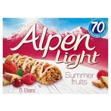 Alpen Light Summer Fruit Bars (5 x 95g)