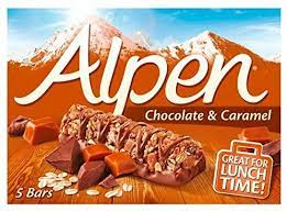 Alpen Chocolate and Caramel Cereal  Bars (5 x 145g)