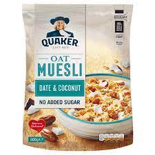 Quaker Oat Muesli Date & Coconut 600g
