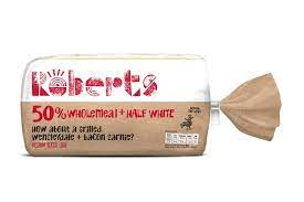 Roberts 50% Wholemeal + Half White 800g