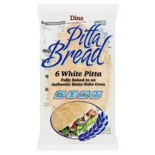 Dina Pitta Bread , 6 White Pitta 550g