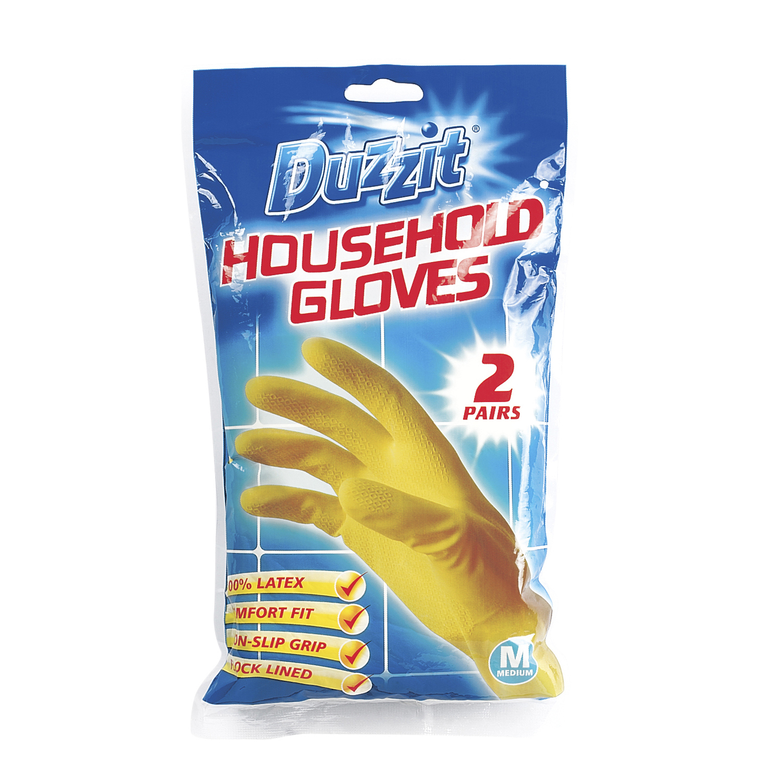 Duzzit Household Gloves M & L (2pk)