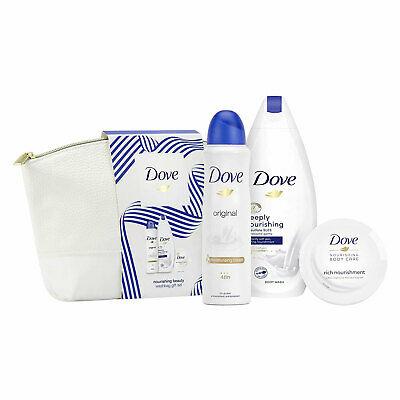 Dove Nourishing Beauty Wash Bag Set 4 Piece