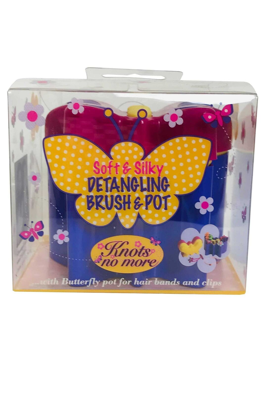 Knots no more Soft & Silky Butterfly Detangling Brush