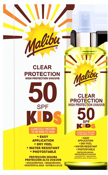 Malibu SPF50 Kids Clear Spray 250ml