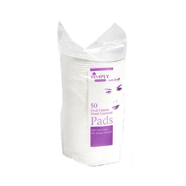 Simply Cotton Oval Cosmetic Pads (50)