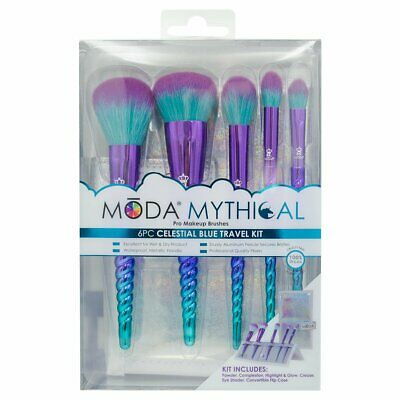 Royal & Lang Moda Mythical Blue Travel Brushes 6 Piece