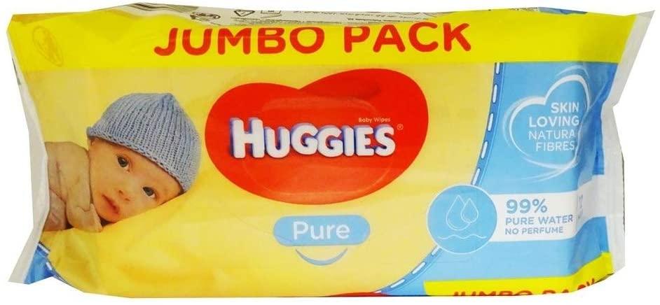 Huggies Pure Baby Wipes (72pk)