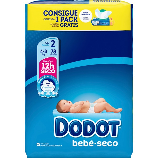 Dodot Absorbent Diapers Size 2 (78pk)