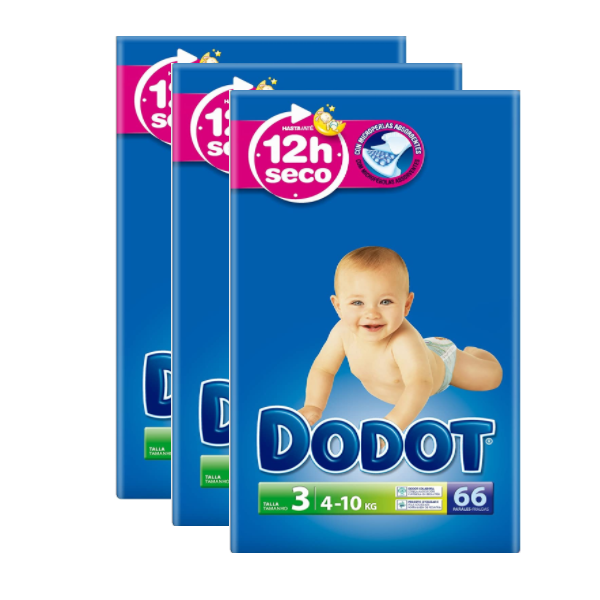 Dodot Absorbent Diapers Size 3 (66pk)
