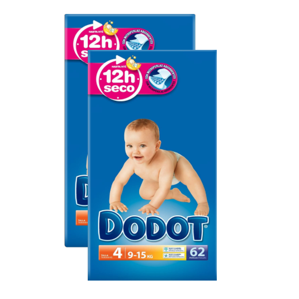 Dodot Absorbent Diapers Size 4 (62pk)
