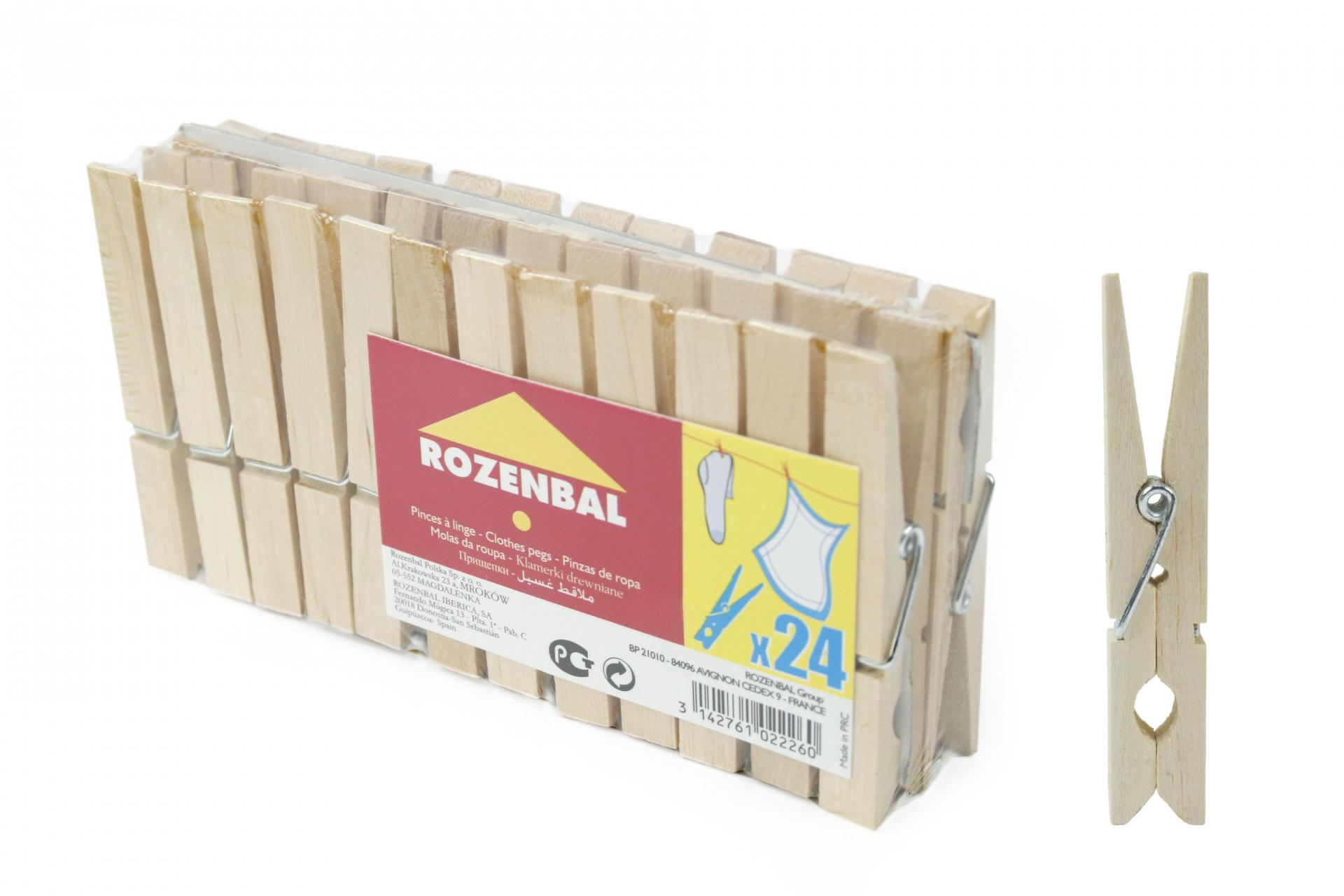 Wooden Pegs (24pack)