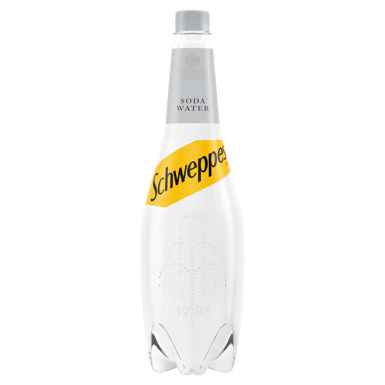 Schweppes Soda Water Bottle 1L