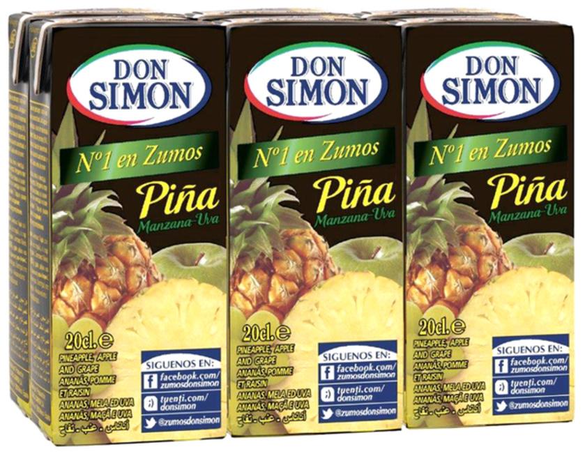 Don Simon Pineapple Juice 6 x 200ml