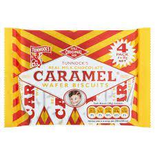 Tunnocks Caramel Wafer x 4
