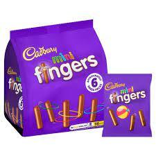 Cadbury Mini Fingers 6 Pack 116g