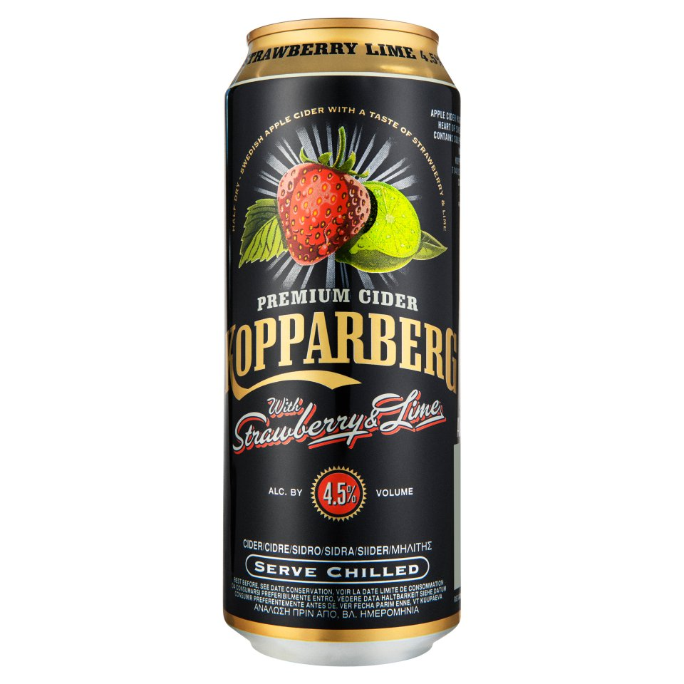 Kopparberg Can Stawberry and Lime, Mixed Fruits 50cl