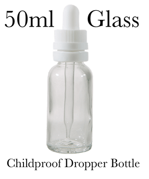 50ml GLASS Dropper Bottle with Glass Pipette