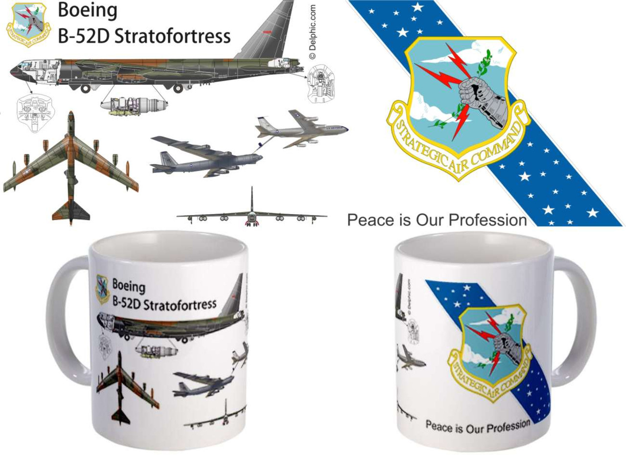 B-52 with SAC Milky Way Emblem Mug