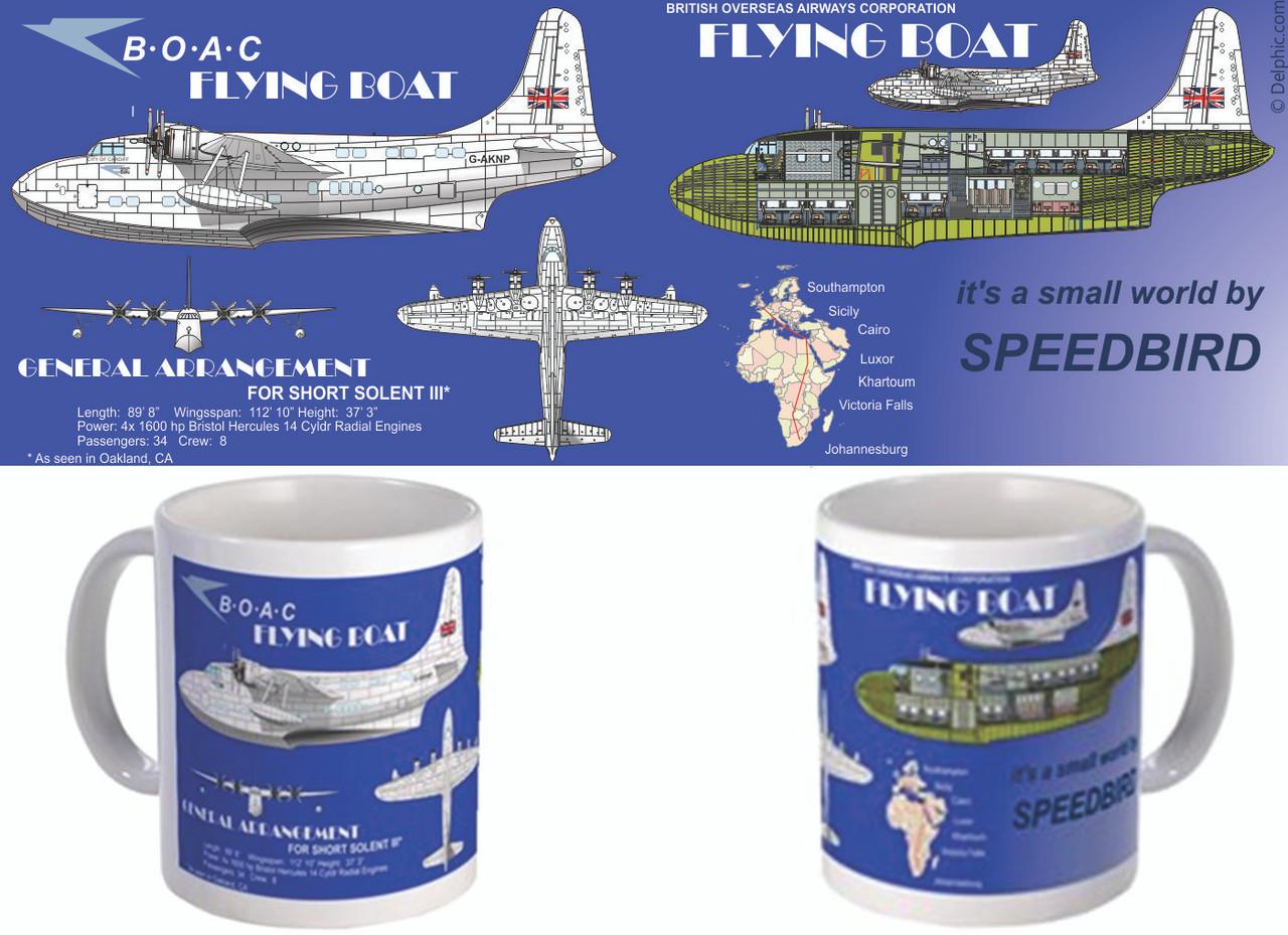 BOAC Flying Boat Mug