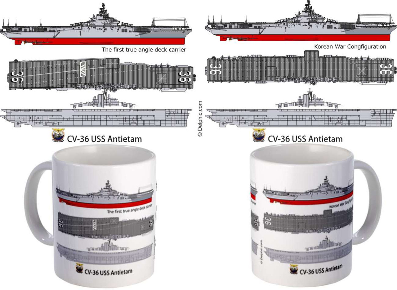 USS Antietam CV-36 CVA-36 Coffee Mug