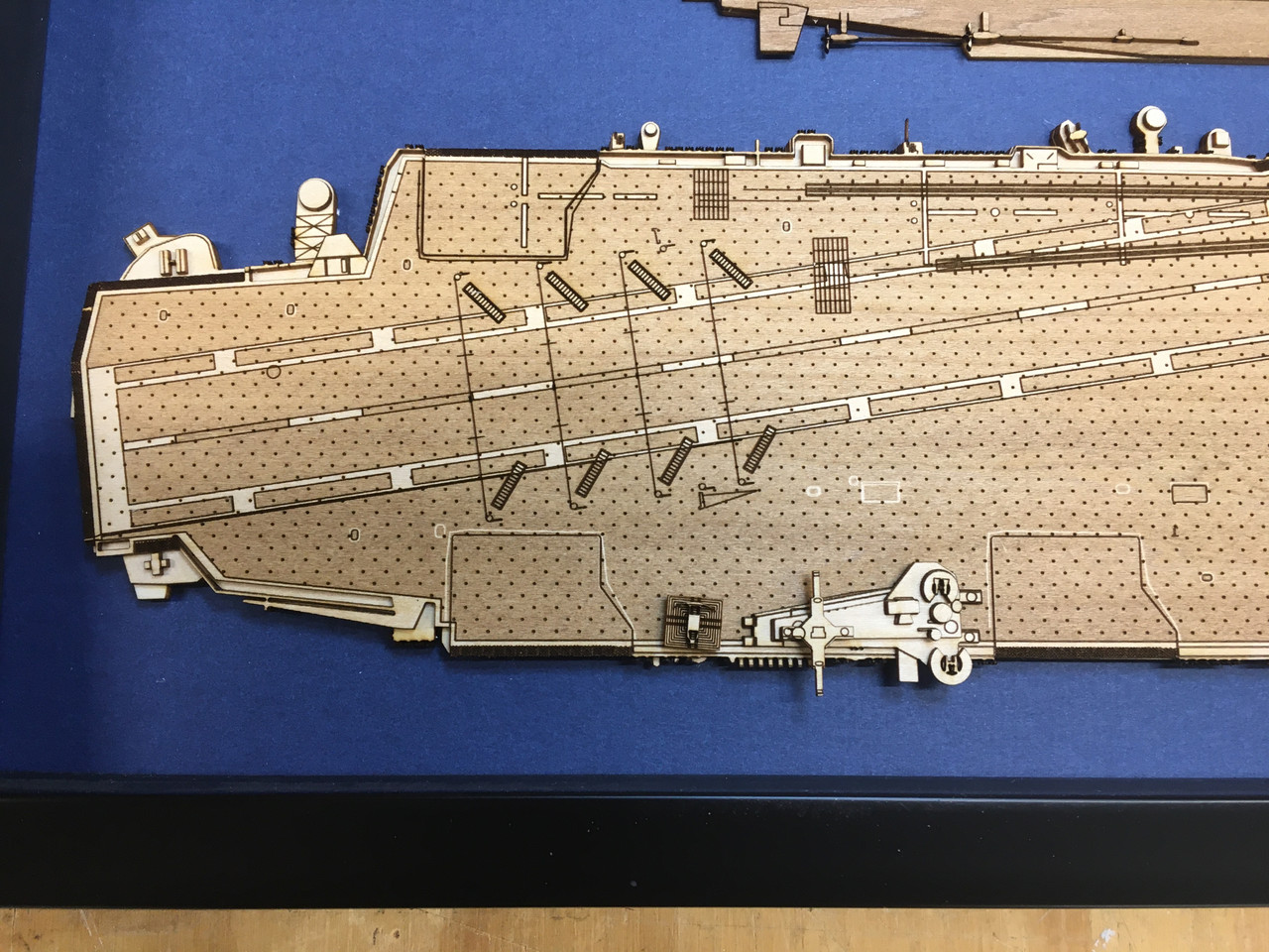 USS George Washington CVN-73 Wood Model