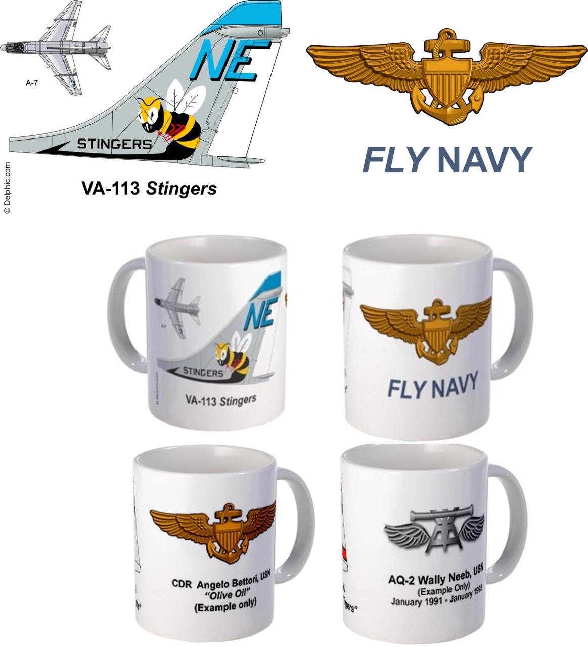 "VA-113 ""Stingers"" A-7 Corsair II Mug"