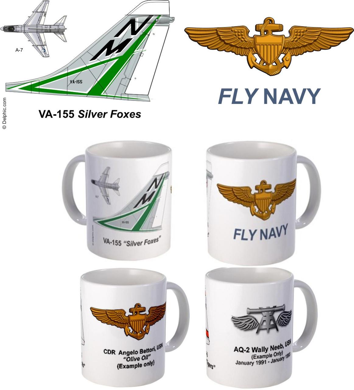 "VA-155 ""Silver Foxes"" A-7 Corsair II Mug"
