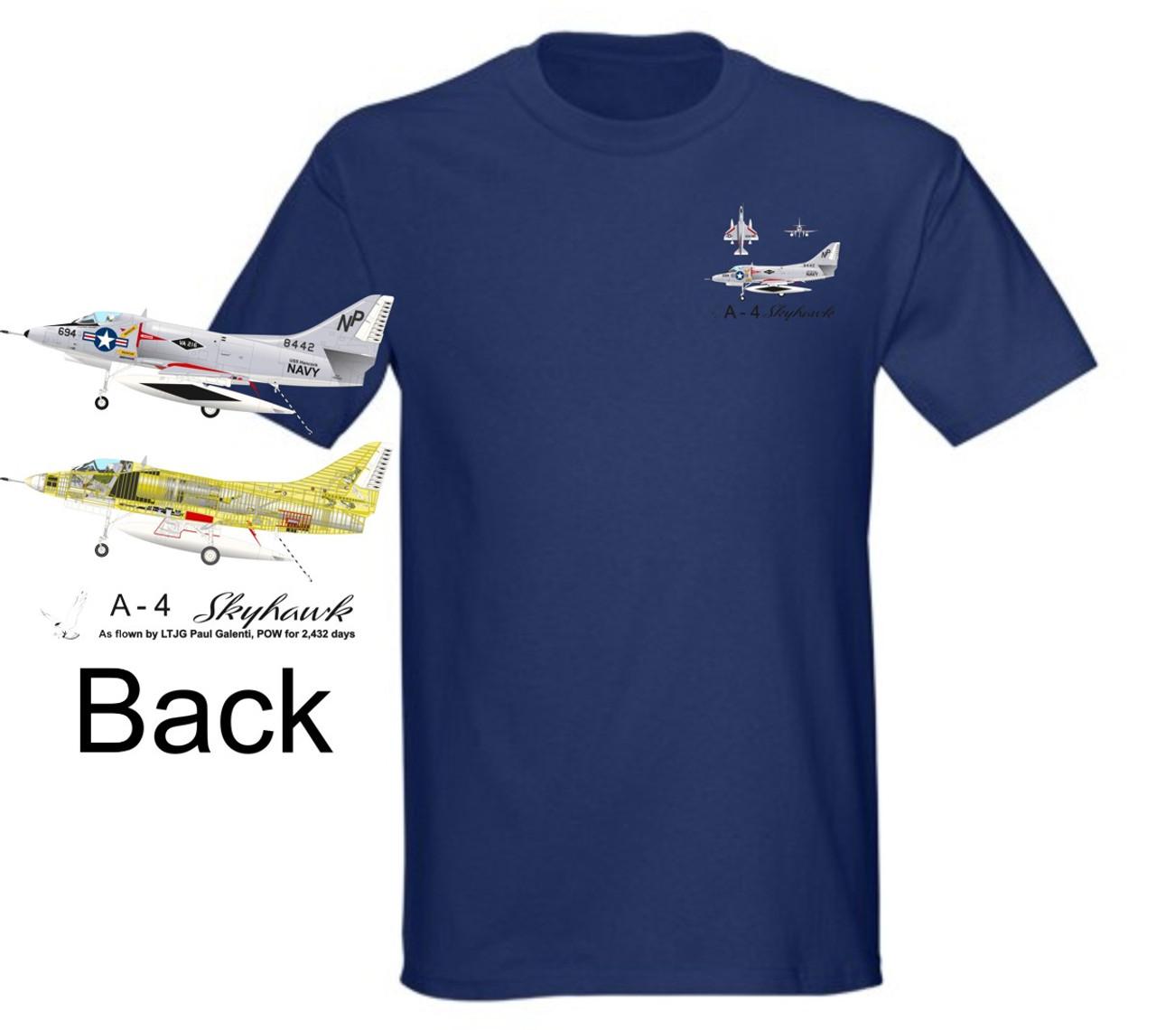Vietnam Era A-4 Skyhawk Landing Color T-Shirt1