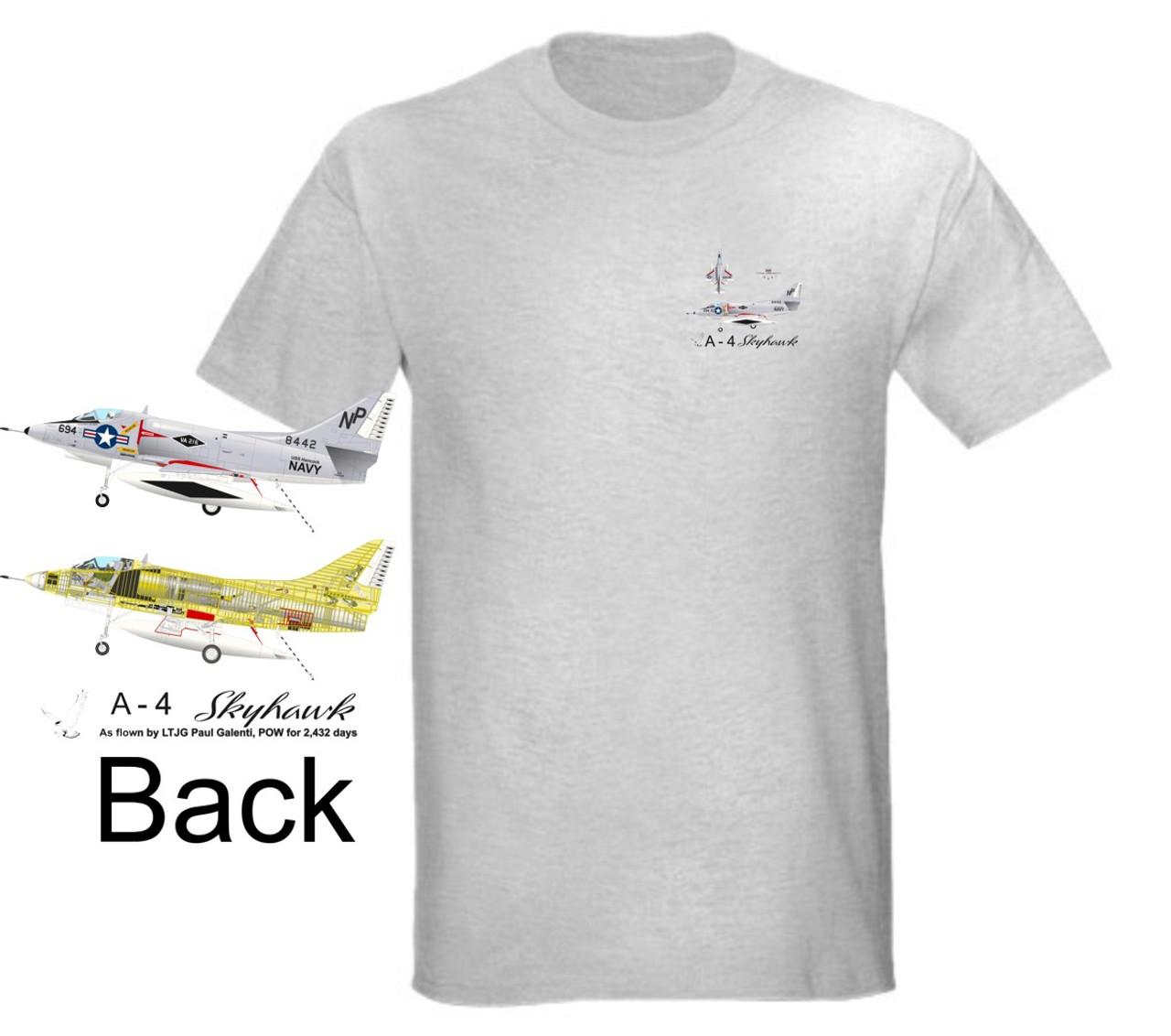 Vietnam Era A-4 Skyhawk Landing Light Color T-Shirt