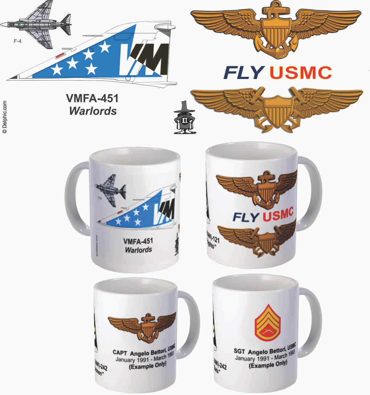 """VMFA-451 """"Warlords"""" F-4 Phantom II Mug"""