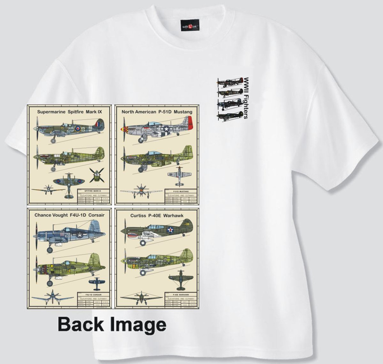 WWII Fighter Planes T-shirt