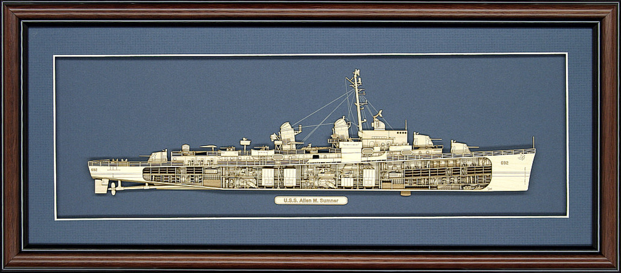 USS Allen M Sumner Wood Model