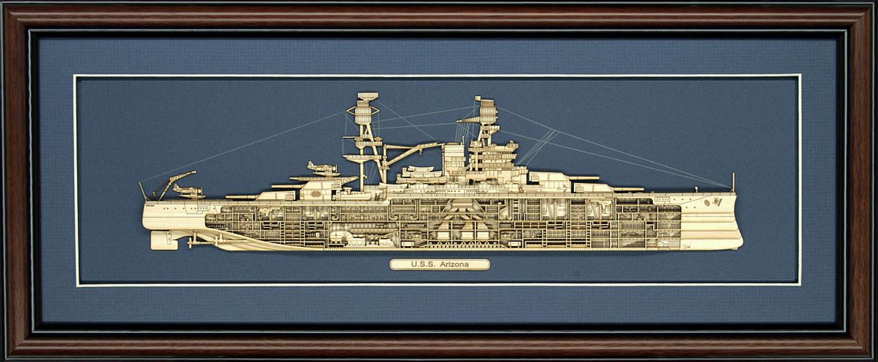 USS Arizona (BB-39) Wood Model