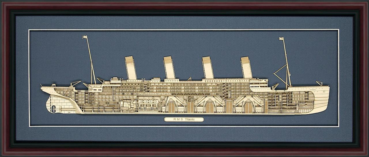RMS Titanic Wood Model