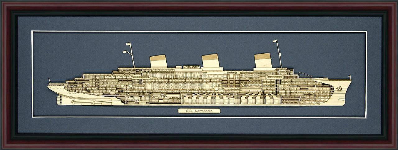 SS Normandie Wood Model