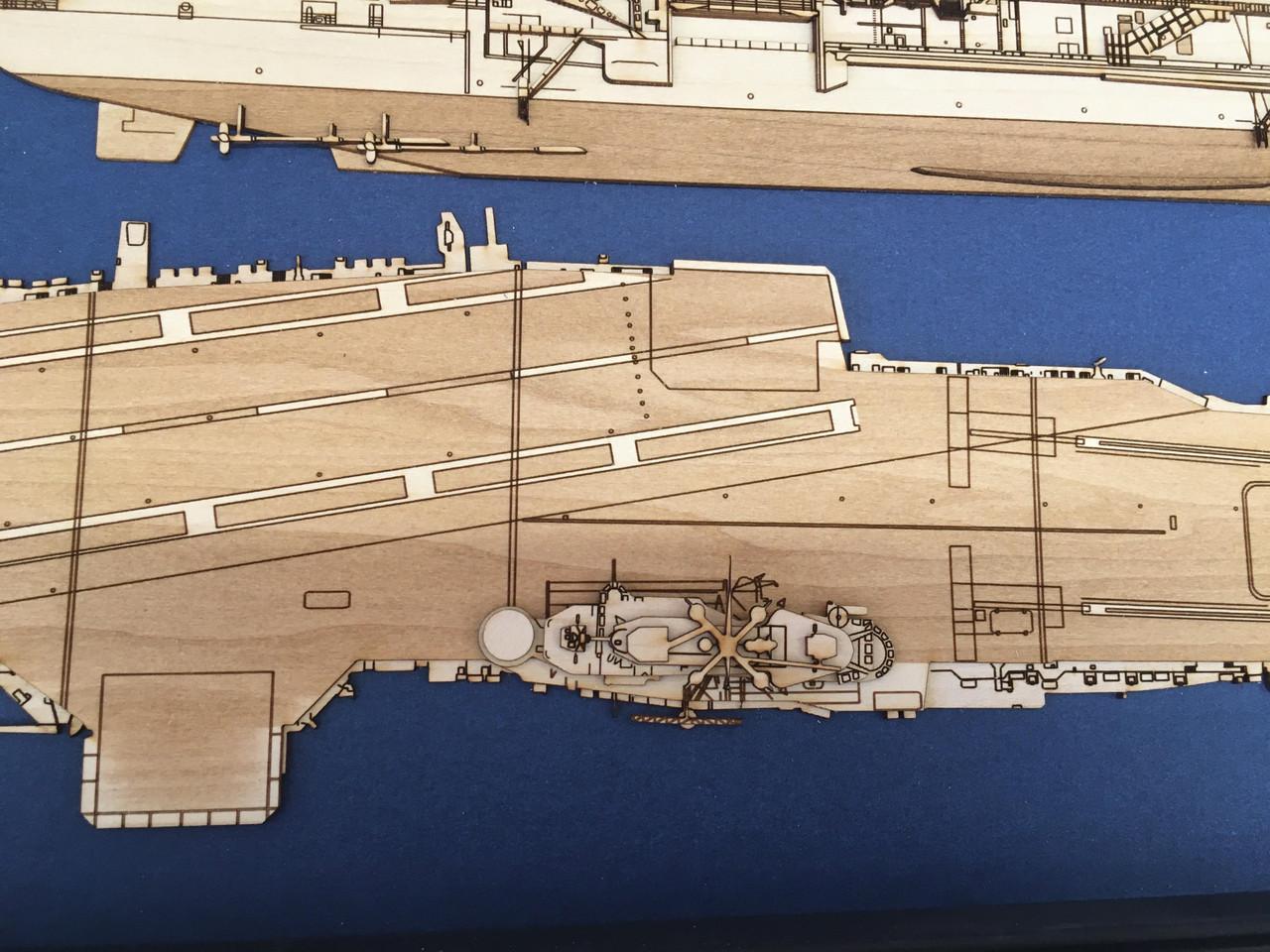 USS Leyete (CVA-13) Wood Model